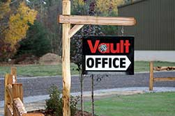 Vault Motor Storage Office Sign